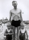 Father and sons in Avon, 1930s.