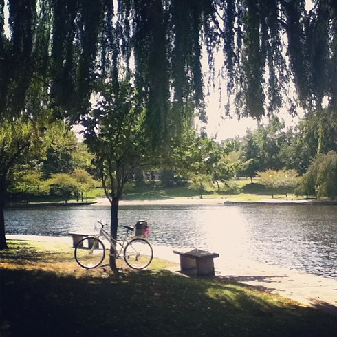 Found the perfect place to park my bike & study some music #wadepark#cleveland - PHOTO COURTESY OF INSTAGRAM USER SOGNARESEMPRE