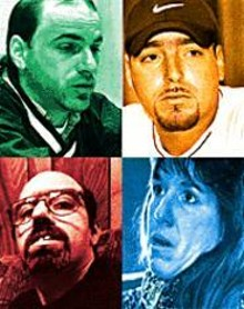 WALTER  NOVAK - Four of the five Periandris: Mitchell, Marco, Yolanda, and Gino (clockwise - from top left)