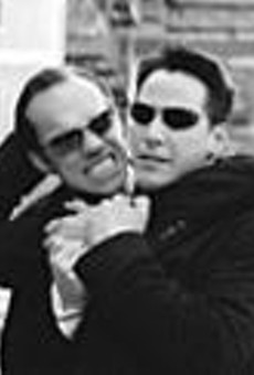Full throttle: Agent Smith (Hugo Weaving) and Neo      (Keano Reeves).