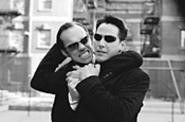Full throttle: Agent Smith (Hugo Weaving) and Neo - (Keano Reeves).