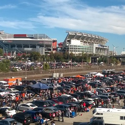 Fun Photos of the Scene Events Team at the Browns vs. Steelers Muni Lot Tailgate