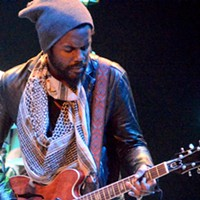Gary Clark Jr. and opener Austin Walkin Cane performing at House of Blues