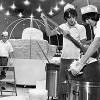 15 Vintage Memories from the Soon-to-be-Demolished Parmatown Mall Giant popcorn ball being made at Parmatown Shopping Center.