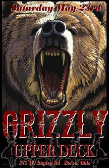 PROVIDED BY BAND GRIZZLY - Grizzly concert poster