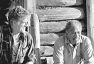 Grumpy old cowboys: Redford and Freeman.