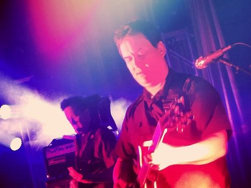 Guitarist Jeff Raines shreds.