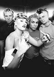 Gwen and the guys -- not that you'd notice them.