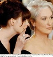 Hathaway's an eager young thing; Streep's the devil in disguise.