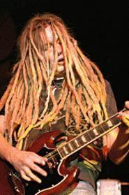 H.I.M. guitarist Mikko Lindstrom, at the Agora November 11. - WALTER  NOVAK