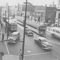 20 Photos of Old Cleveland Streetcars Intersection at Euclid and East 105th Street, circa 1951 Cleveland Memory Project