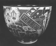 """""""Jazz Bowl,"""" by Viktor Schreckengost, ceramic."""