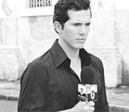 John Leguizamo hits a personal best as Manolo, a cocky TV - journalist.