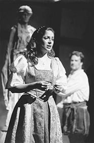 Julie Wright as Angela in The Firebrand of Florence.