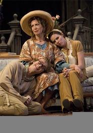 Kathleen Pirkl Tague (center), Jeffrey Hawkins (left), and Sara Bruner (right) in a familial pose.