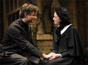 Keep it in the Holy Family: Father Flynn assures Sister James of his innocence.