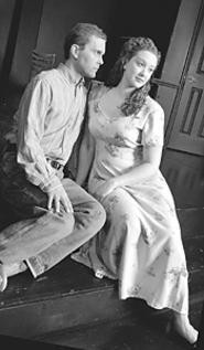Keith E. Stevens and Constance Thackaberry play - small-town lovers in Picnic.