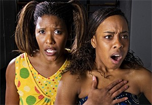 Kimberly Brown (left) and Bianca Sams find the comedy and tragedy in having AIDS.
