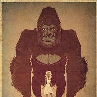 30 Incredible Movie Poster Recreations From Your Favorite Hollywood Hits King Kong by James Gilleard Photo Courtesy of Matthew Chojnacki