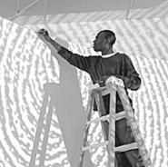 Kori Newkirks pomade art at MOCA.