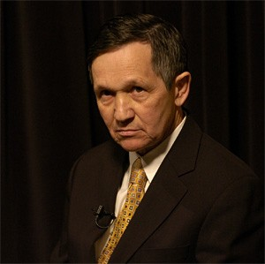 Kucinich talks a lot about having your back. He just hasn't got around to it yet. - WALTER NOVAK