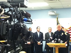 Lakewood Police Chief Timothy Malley announces James Daniel's connection to a Lakewood crime. - ERIC SANDY / SCENE