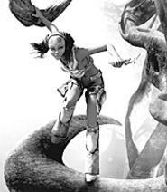 Lara Croft-wannabe Kaena keeps the world safe from - attacking aliens and cumbersome clothing (Sunday).