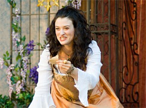 Lara Mielcarek as scorned-lover Julia in Two Gentlemen of Verona.