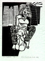 Leena Nevalainen-Smiths linoleum prints break the mold of - Drer and Kollwitz. (Through January 29 at Loganberry - Books.)