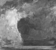"""""""Loch Eishort: Winter Dream,"""" by Jon Schueler, oil."""