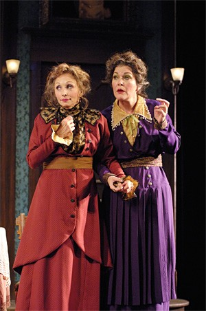 Look out, AARP: Laura Perrotta (left) and Lynn Allison in Arsenic and Old Lace.
