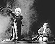 Lynn Robert Berg as Marley (left) and Dudley - Swetland as Scrooge star in GLTFs A Christmas - Carol.
