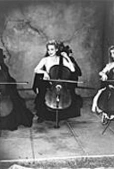 Melora Creager (right) leads Rasputina, a division of      the Ladies' Cello Society.