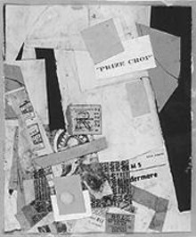 """Merz-101: Prize Crop,"" by Kurt Schwitters, collage."