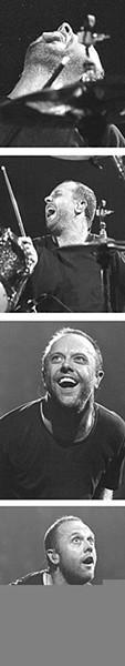 Metallica's Lars Ulrich, getting off at Gund Arena, - September 21. - WALTER  NOVAK