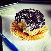 Cleveland Eats (and Drinks): 25 Things You Consumed this Week @michaelmcgrathjr thanks for this awesome pic! #regram #cookiesandcream #oreo #backtoschool #studybreak #wifi #cleveland #cupcakes #colossal #dessert #foodporn #yum #funcupcakes Photo Courtesy of Instagram User sunnyc216