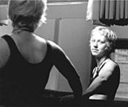 Mirror image: Singer-songwriter Ana Egge checks - herself before her Wednesday Beachland Tavern - appearance.