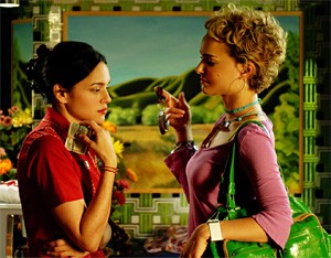 Mixed Berries: Norah Jones (left) and Natalie Portman in My Blueberry Nights.
