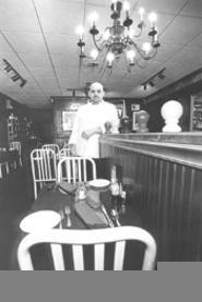 Nana would be proud: Chris Esquivel in the hip dining - room of Curcio's. - WALTER  NOVAK