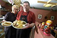 Nancy and Dave Abramowski serve up luscious combo platters heaped with Old World flavor. - WALTER NOVAK