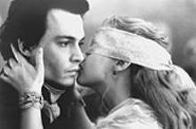 Necking her Crane: Christina Ricci, wooing Johnny Depp.