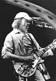 Neil Young, growling out Greendale at the  CSU - Convocation Center, March 11. - WALTER  NOVAK