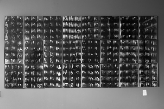 All 24 panels installed in the gallery (Dark Silver II: 12X) - MASTROIANNI