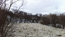 Here's What the Ice Jam in Rocky River Looks Like