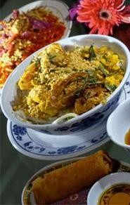 New to the neighborhood: Spring roll, banh sougnh, and pad thai. - WALTER  NOVAK