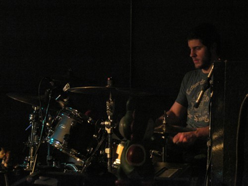 Nick Sonricker on drums
