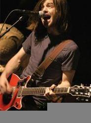Nine Black Alps' singer-guitarist Sam Forrest, at the Agora Ballroom April 7. - WALTER  NOVAK