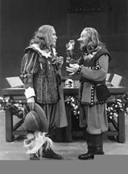 Nose, his stuff: Jamie Horton (right) in the title role.