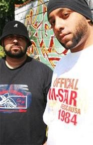 Not as scary in the light: Dlek (left) and Oktopus' cinematic hip-hop is built for darkness.