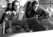 Obi and Ani work on their Jedi driving tricks.